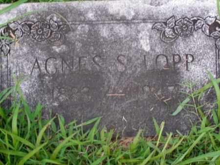 LOPP, AGNES S. - Boone County, Arkansas | AGNES S. LOPP - Arkansas Gravestone Photos