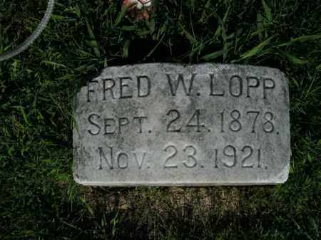 LOPP, FRED W. - Boone County, Arkansas | FRED W. LOPP - Arkansas Gravestone Photos