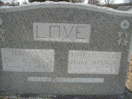 LOVE, RHEUBEN C. - Boone County, Arkansas | RHEUBEN C. LOVE - Arkansas Gravestone Photos