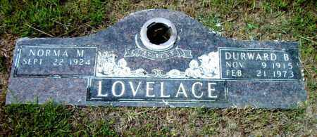LOVELACE, DURWARD  B. - Boone County, Arkansas | DURWARD  B. LOVELACE - Arkansas Gravestone Photos