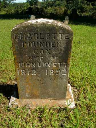 COX LOVETT, CHARLOTTE POUNDER - Boone County, Arkansas | CHARLOTTE POUNDER COX LOVETT - Arkansas Gravestone Photos