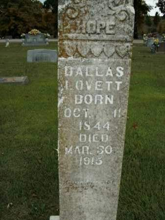 LOVETT, DALLAS - Boone County, Arkansas | DALLAS LOVETT - Arkansas Gravestone Photos