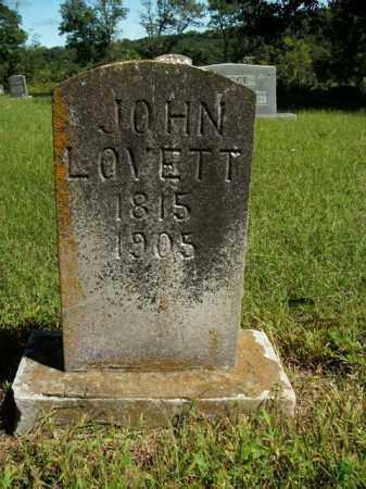 LOVETT, JOHN - Boone County, Arkansas | JOHN LOVETT - Arkansas Gravestone Photos