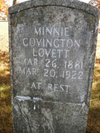 COVINGTON LOVETT, MINNIE - Boone County, Arkansas | MINNIE COVINGTON LOVETT - Arkansas Gravestone Photos