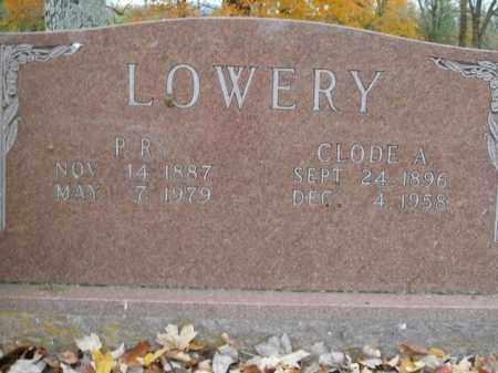 LOWERY, P.R. - Boone County, Arkansas | P.R. LOWERY - Arkansas Gravestone Photos