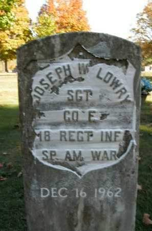 LOWRY  (VETERAN SAW), JOSEPH W. - Boone County, Arkansas | JOSEPH W. LOWRY  (VETERAN SAW) - Arkansas Gravestone Photos