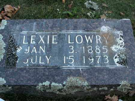 LOWRY, LEXIE - Boone County, Arkansas | LEXIE LOWRY - Arkansas Gravestone Photos