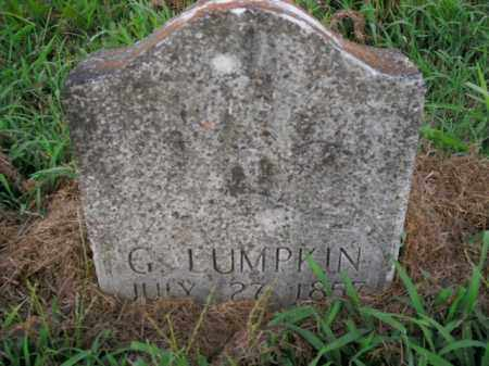 LUMPKIN, G. - Boone County, Arkansas | G. LUMPKIN - Arkansas Gravestone Photos