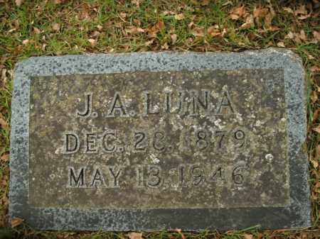 LUNA, J.A. - Boone County, Arkansas | J.A. LUNA - Arkansas Gravestone Photos