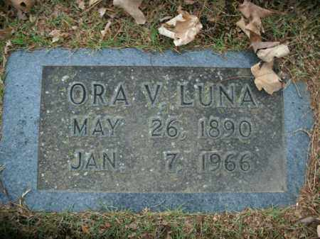 LUNA, ORA V. - Boone County, Arkansas | ORA V. LUNA - Arkansas Gravestone Photos