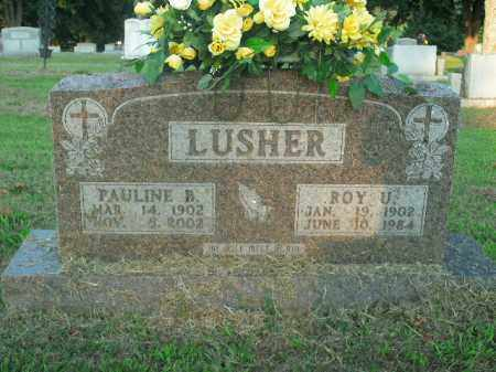 LUSHER, ROY U. - Boone County, Arkansas | ROY U. LUSHER - Arkansas Gravestone Photos