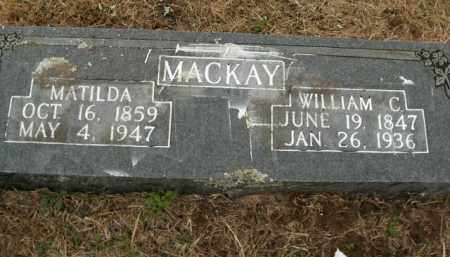 MACKAY, WILLIAM C. - Boone County, Arkansas | WILLIAM C. MACKAY - Arkansas Gravestone Photos