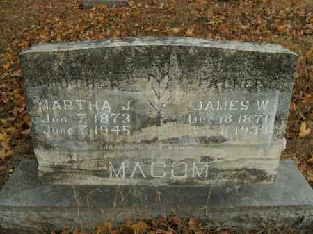 MACOM, JAMES W. - Boone County, Arkansas | JAMES W. MACOM - Arkansas Gravestone Photos