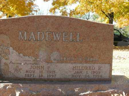 MADEWELL, HILDRED K. - Boone County, Arkansas | HILDRED K. MADEWELL - Arkansas Gravestone Photos