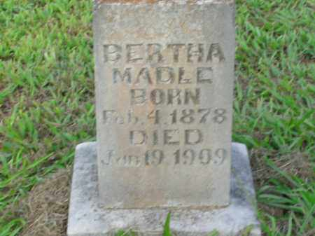 MADLE, BERTHA - Boone County, Arkansas | BERTHA MADLE - Arkansas Gravestone Photos
