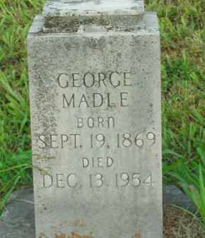 MADLE, GEORGE - Boone County, Arkansas | GEORGE MADLE - Arkansas Gravestone Photos