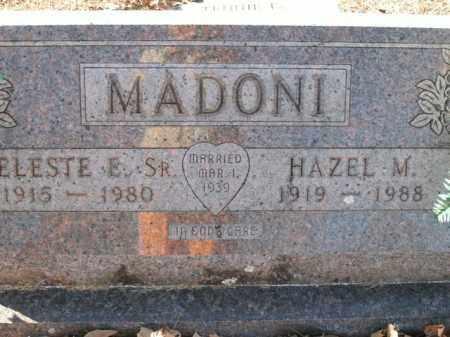 MADONI, SR, CELESTE E. - Boone County, Arkansas | CELESTE E. MADONI, SR - Arkansas Gravestone Photos