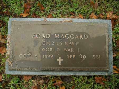 MAGGARD  (VETERAN WWI), FORD - Boone County, Arkansas | FORD MAGGARD  (VETERAN WWI) - Arkansas Gravestone Photos