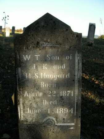 MAGGARD, WILLIAM T. - Boone County, Arkansas   WILLIAM T. MAGGARD - Arkansas Gravestone Photos