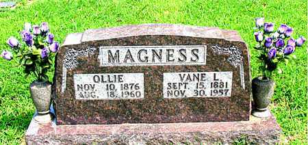 MAGNESS, VANE L. - Boone County, Arkansas | VANE L. MAGNESS - Arkansas Gravestone Photos
