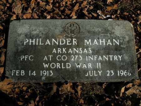 MAHAN  (VETERAN WWII), PHILANDER - Boone County, Arkansas | PHILANDER MAHAN  (VETERAN WWII) - Arkansas Gravestone Photos