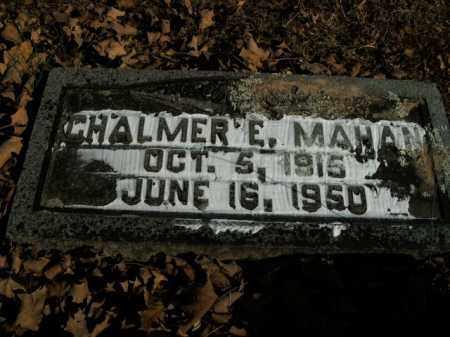MAHAN, CHALMER E. - Boone County, Arkansas | CHALMER E. MAHAN - Arkansas Gravestone Photos