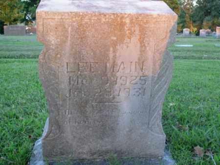 MAIN, LEE ALFRED - Boone County, Arkansas   LEE ALFRED MAIN - Arkansas Gravestone Photos