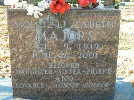 MAJORS, MOLLIE ELIZABETH - Boone County, Arkansas | MOLLIE ELIZABETH MAJORS - Arkansas Gravestone Photos