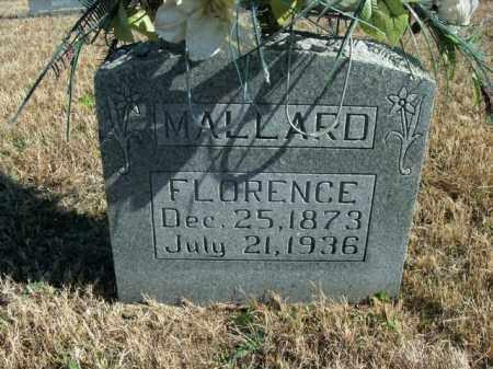MALLARD, FLORENCE - Boone County, Arkansas | FLORENCE MALLARD - Arkansas Gravestone Photos