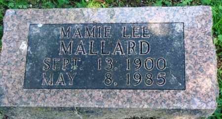 MALLARD, MAMIE LEE - Boone County, Arkansas | MAMIE LEE MALLARD - Arkansas Gravestone Photos