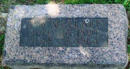 MALLARD, W B - Boone County, Arkansas | W B MALLARD - Arkansas Gravestone Photos