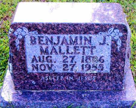 MALLETT, BENJAMIN J. - Boone County, Arkansas | BENJAMIN J. MALLETT - Arkansas Gravestone Photos