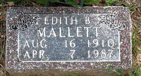 MALLETT, EDITH B. - Boone County, Arkansas | EDITH B. MALLETT - Arkansas Gravestone Photos