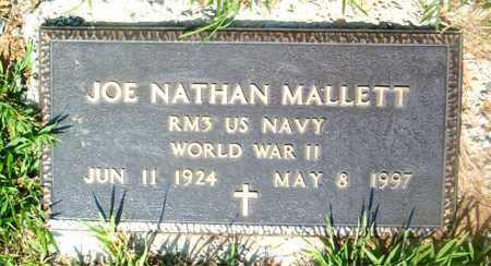 MALLETT  (VETERAN WWII), JOE NATHAN - Boone County, Arkansas | JOE NATHAN MALLETT  (VETERAN WWII) - Arkansas Gravestone Photos
