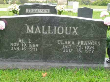 MALLIOUX, AL L. - Boone County, Arkansas | AL L. MALLIOUX - Arkansas Gravestone Photos