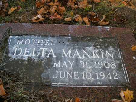 MANKIN, DELTA - Boone County, Arkansas | DELTA MANKIN - Arkansas Gravestone Photos