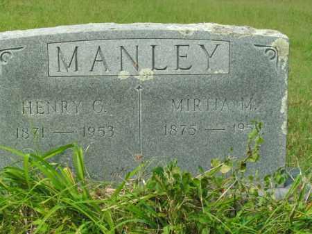 MANLEY, HENRY C. - Boone County, Arkansas | HENRY C. MANLEY - Arkansas Gravestone Photos