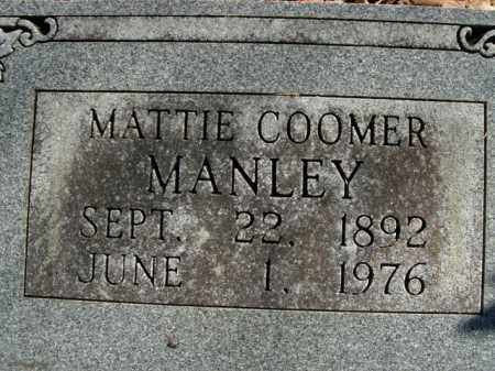 COOMER MANLEY, MATTIE - Boone County, Arkansas | MATTIE COOMER MANLEY - Arkansas Gravestone Photos