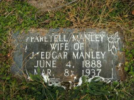 MANLEY, PARETELL - Boone County, Arkansas | PARETELL MANLEY - Arkansas Gravestone Photos