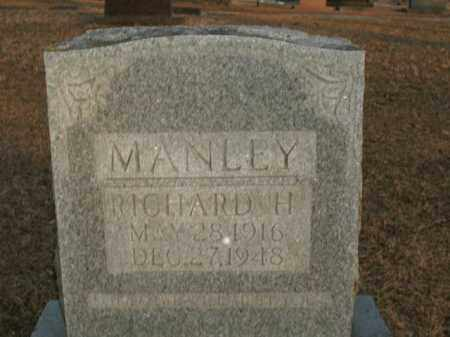 MANLEY, RICHARD H. - Boone County, Arkansas | RICHARD H. MANLEY - Arkansas Gravestone Photos