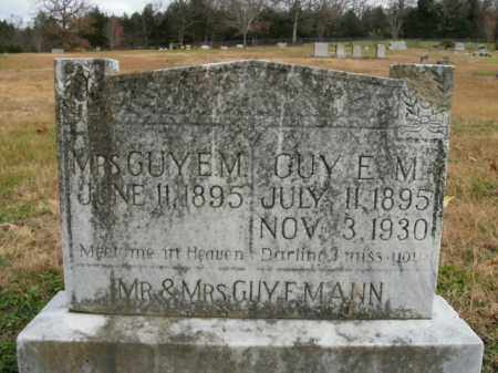 MANN, GUY E. - Boone County, Arkansas | GUY E. MANN - Arkansas Gravestone Photos