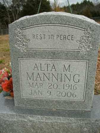 MANNING, ALTA M. - Boone County, Arkansas | ALTA M. MANNING - Arkansas Gravestone Photos