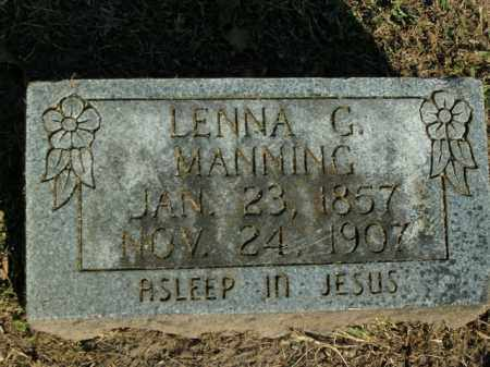 MANNING, LENNA G. - Boone County, Arkansas | LENNA G. MANNING - Arkansas Gravestone Photos