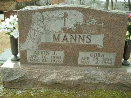 MANNS, CORA - Boone County, Arkansas | CORA MANNS - Arkansas Gravestone Photos