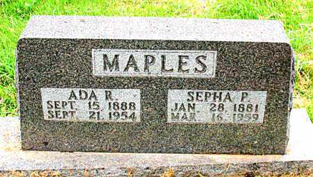 MAPLES, SEPHA P. - Boone County, Arkansas | SEPHA P. MAPLES - Arkansas Gravestone Photos