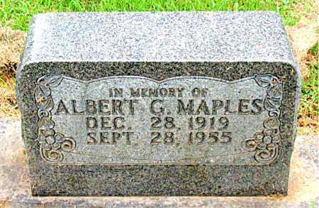 MAPLES, ALBERT G. - Boone County, Arkansas | ALBERT G. MAPLES - Arkansas Gravestone Photos
