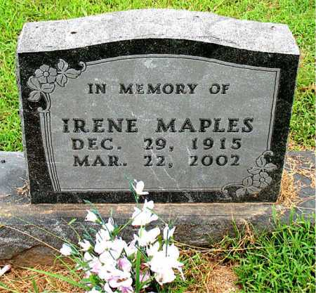 MAPLES, IRENE - Boone County, Arkansas | IRENE MAPLES - Arkansas Gravestone Photos