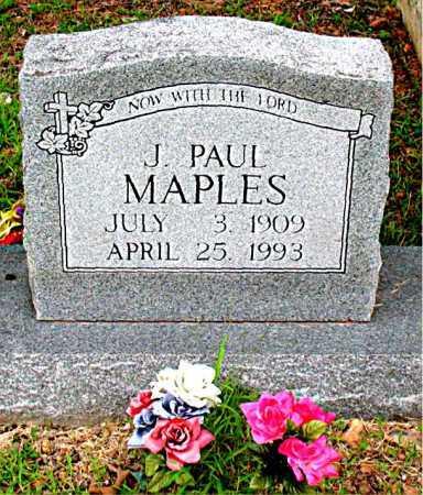 MAPLES, J. PAUL - Boone County, Arkansas | J. PAUL MAPLES - Arkansas Gravestone Photos