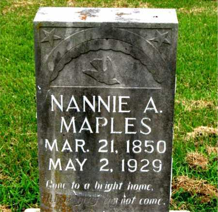 MAPLES, NANNIE A. - Boone County, Arkansas | NANNIE A. MAPLES - Arkansas Gravestone Photos