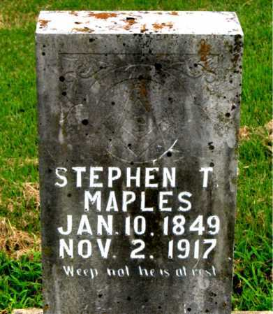 MAPLES, STEPHEN T. - Boone County, Arkansas | STEPHEN T. MAPLES - Arkansas Gravestone Photos